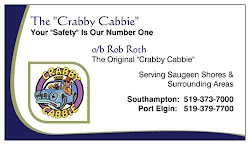 My Hubby, The &quot;Crabby Cabbie&quot;  in Saugeen Shores &amp; Areas