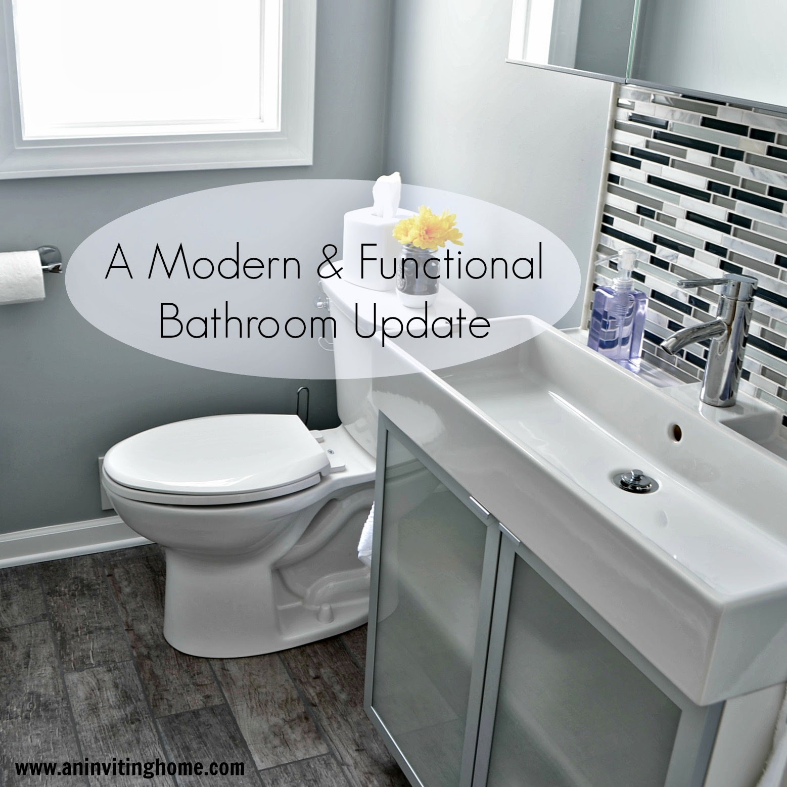 An inviting home a modern functional bathroom update for Bathroom updates