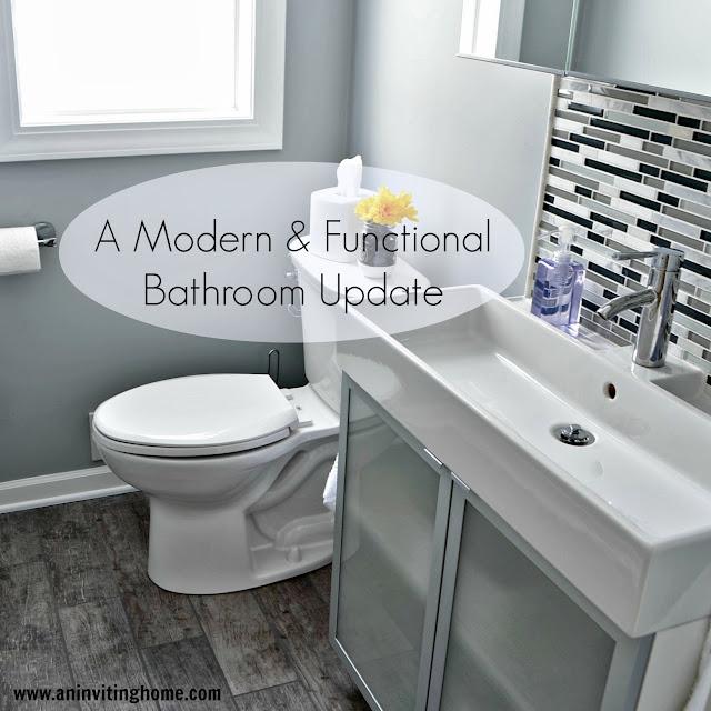 A Modern & Functional Bathroom Update