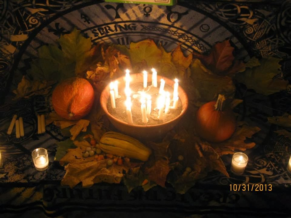 Our Samhain Alter to the Ancestors