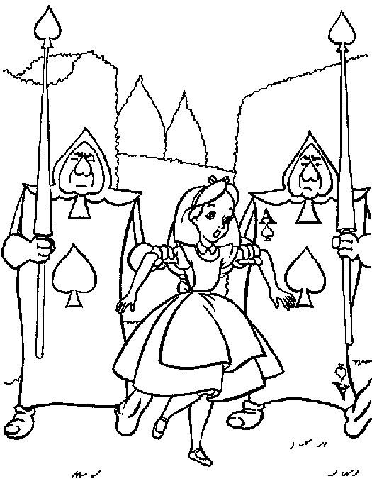 Dibujos disney para colorear: Alicia en el país de las maravillas disney