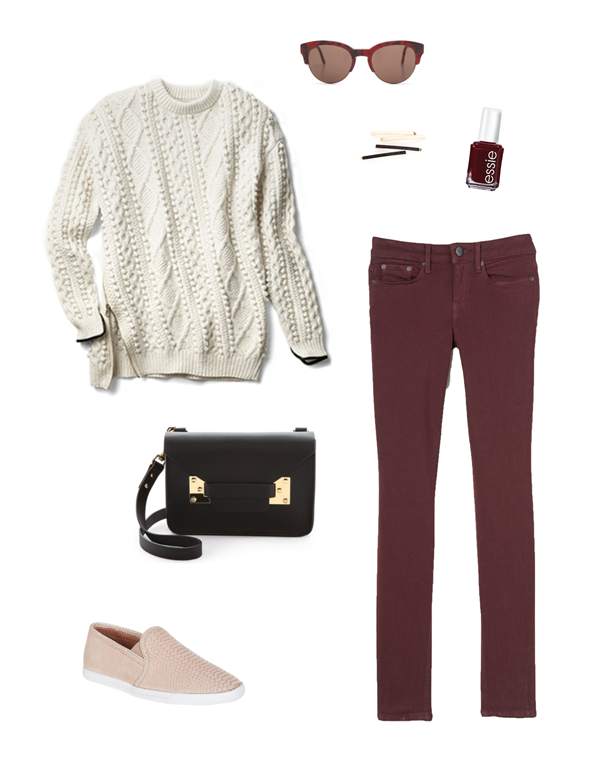 currently loving | 3.1 phillip lim sweater, vince denim, joie sneakers
