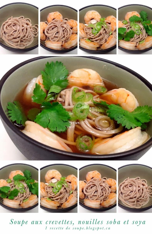 1 recette de soupe soupe aux crevettes nouilles soba soya et coriandre frai che. Black Bedroom Furniture Sets. Home Design Ideas