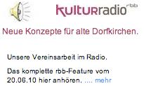 rbb-Radio in Gosener Kirche