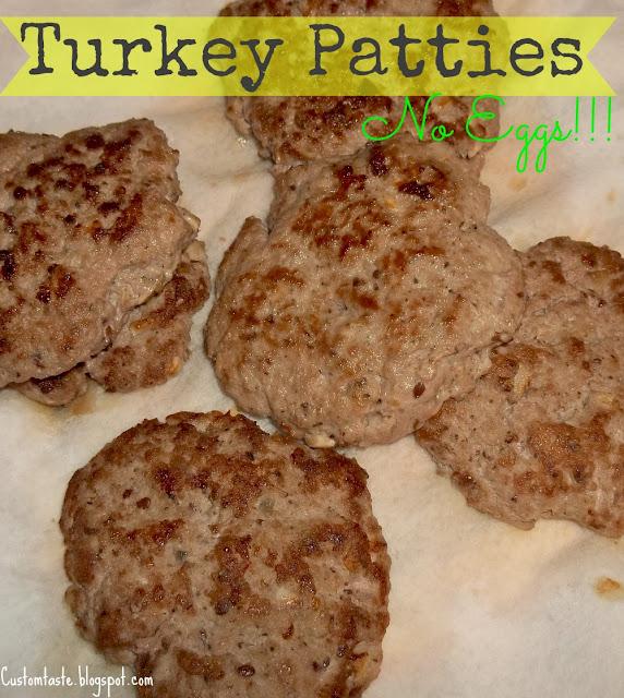 Meal Idea Mondays: Turkey Patties by Custom Taste