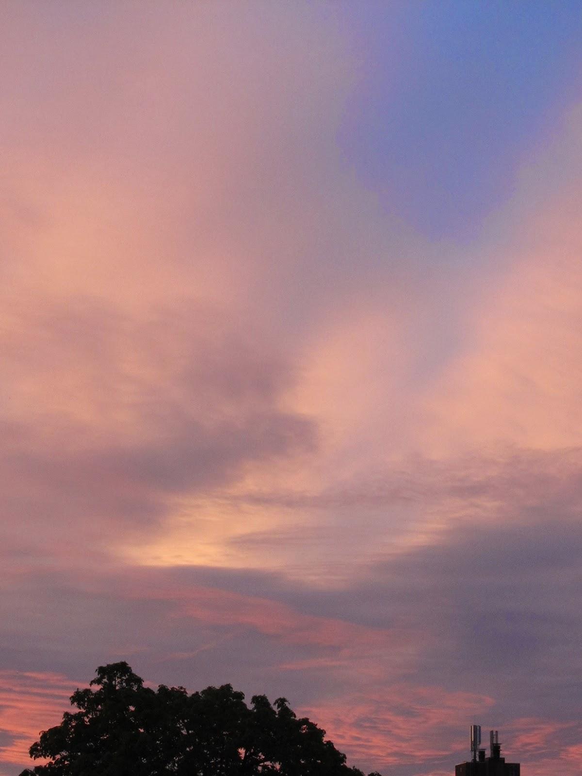 orange coloured sunset
