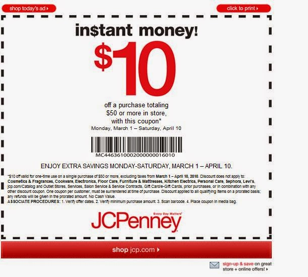 Jcpenney discount coupons