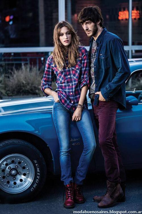 Wrangler camisas y pantalones moda invierno 2014