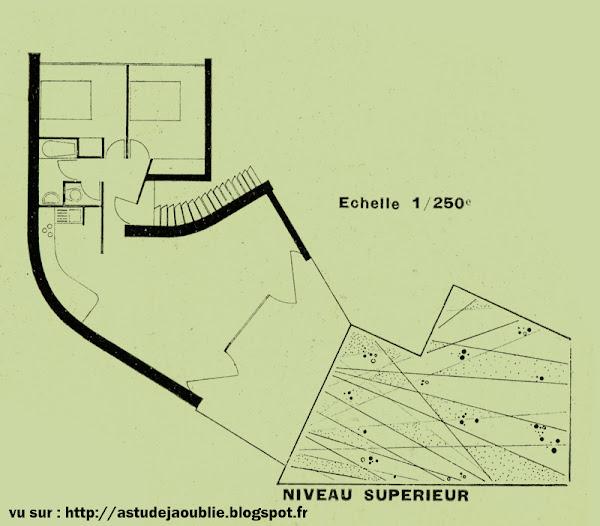 Meudon - Maison de gardien (de la maison André Bloc)  Architectes: Claude Parent et André Bloc  Construction: 1955-1956