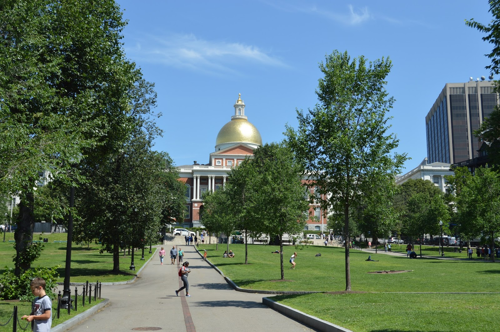 Boston, Freedom Trail, Boston Common, Massachusetts State House