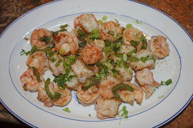 ... : Dry-Fried Salt & Szechuan Peppercorn Shrimp (Jiao Yan Su Xia