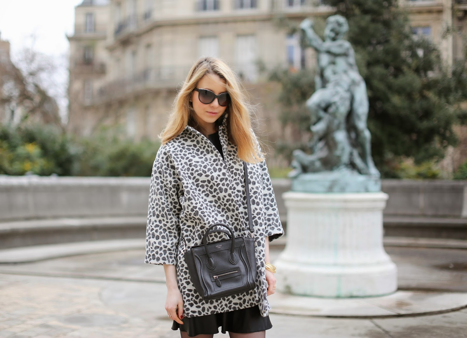 leopard, leather, zara, tabitha simmons, chanel, céline, paris, streetstyle, casual