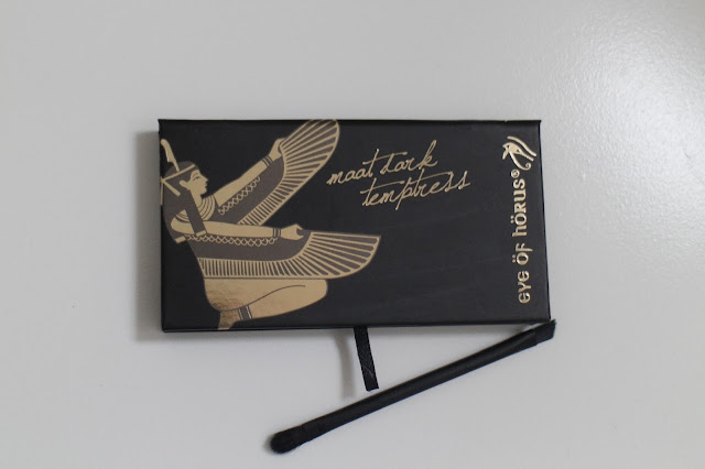 Eye of Horus eyeshadow palette, Eye of horus maat dark temptress palette swatches, Smokey eye palette