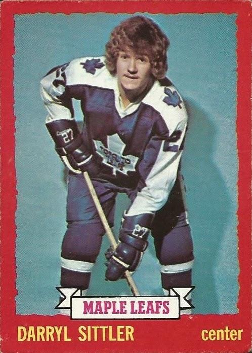 darryl sittler toronto maple leafs 1973-74 hockey card
