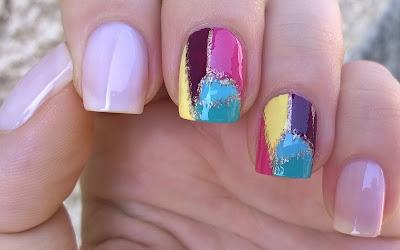 I M Bringing Today A Colorful And Elegant Mosaic Nail Design