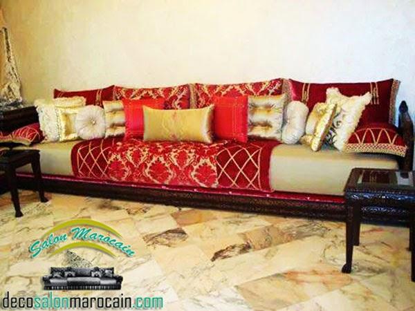 Deco Cuisine Campagne Rouge :  marocain simple et chic 2015  Décoration Salon Marocain Moderne 2016