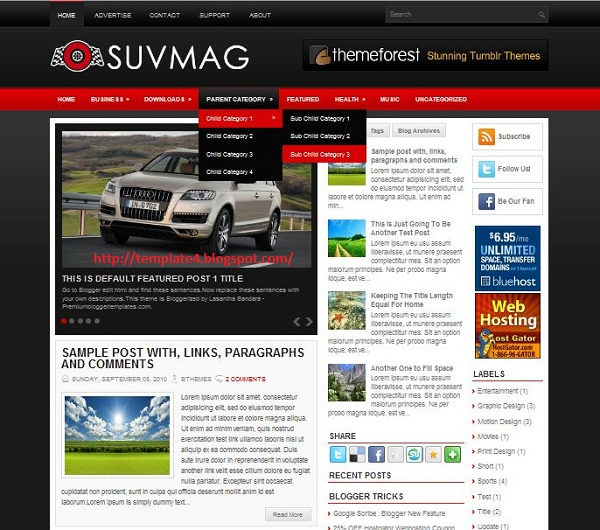 SuvMag Blogger Template