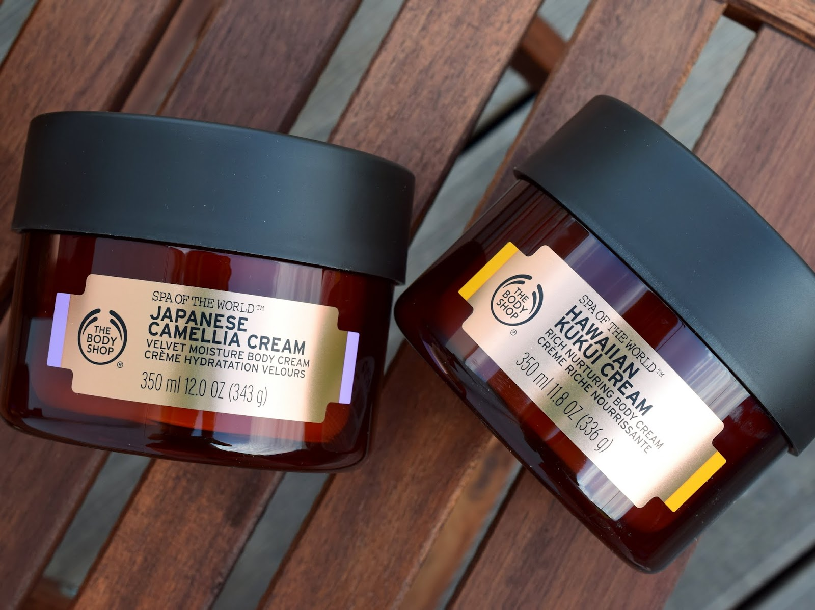 The Body Shop World of Spa: Japanische Kamelien Creme + Hawaiianische Kukui Creme