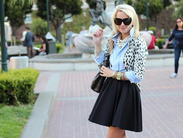 rozkloszowana spódniczka, spódniczka z koła, streetstyle, moda, tatlantic pacific bree