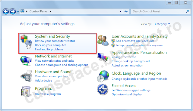dezactivare firewall windows 7