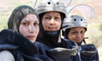 Lebanese women clear Israeli bombs