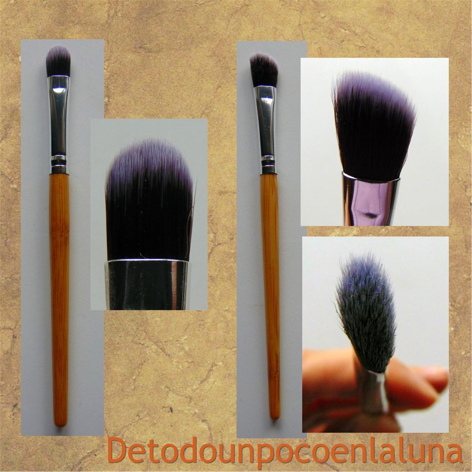 Set 11 brochas de maquillaje de bambú de Buyincoins pincel lengua de gato