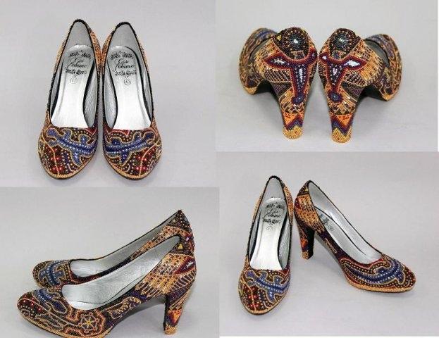 Бісерні туфлі Уічол, зроблені в Україні