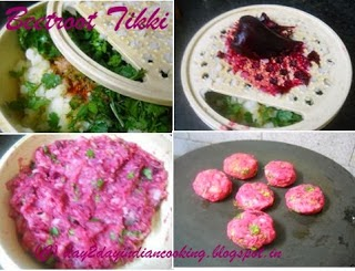 step by step instructions for making recipe of beetroot tikki