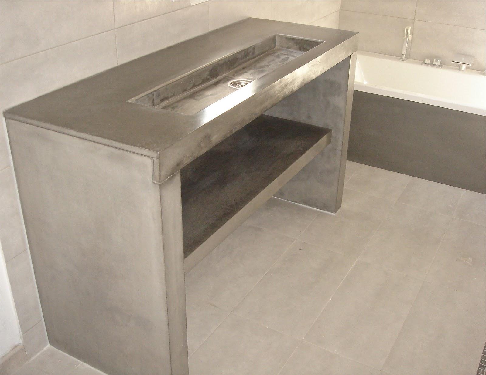 t m beton design console b ton ductal lavabo integr. Black Bedroom Furniture Sets. Home Design Ideas
