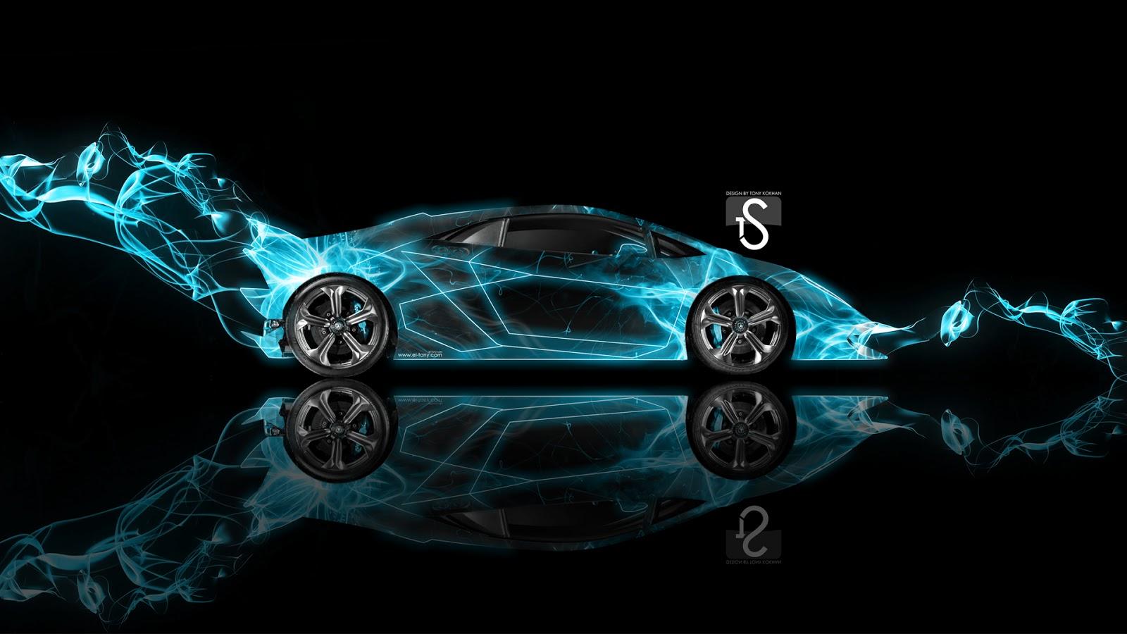 Awesome Cars Lamborghini Sesto Elemento Blue Energy