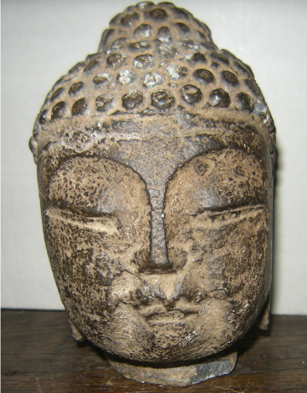 Antique chinese carved stone buddha head statue or not
