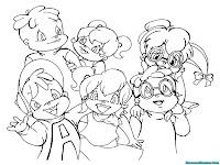 Gambar Kartun The Chipmunks Dan The Chipettes Untuk Diwarnai