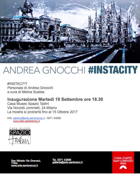 #INSTACITY personale di Andrea Gnocchi a cura di Melina Scalise