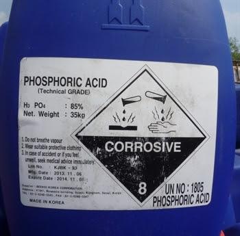Acid phosphoric - H3PO4 85% tại Thanh Hóa, Nghi Sơn, Nghệ An, Hà Tĩnh