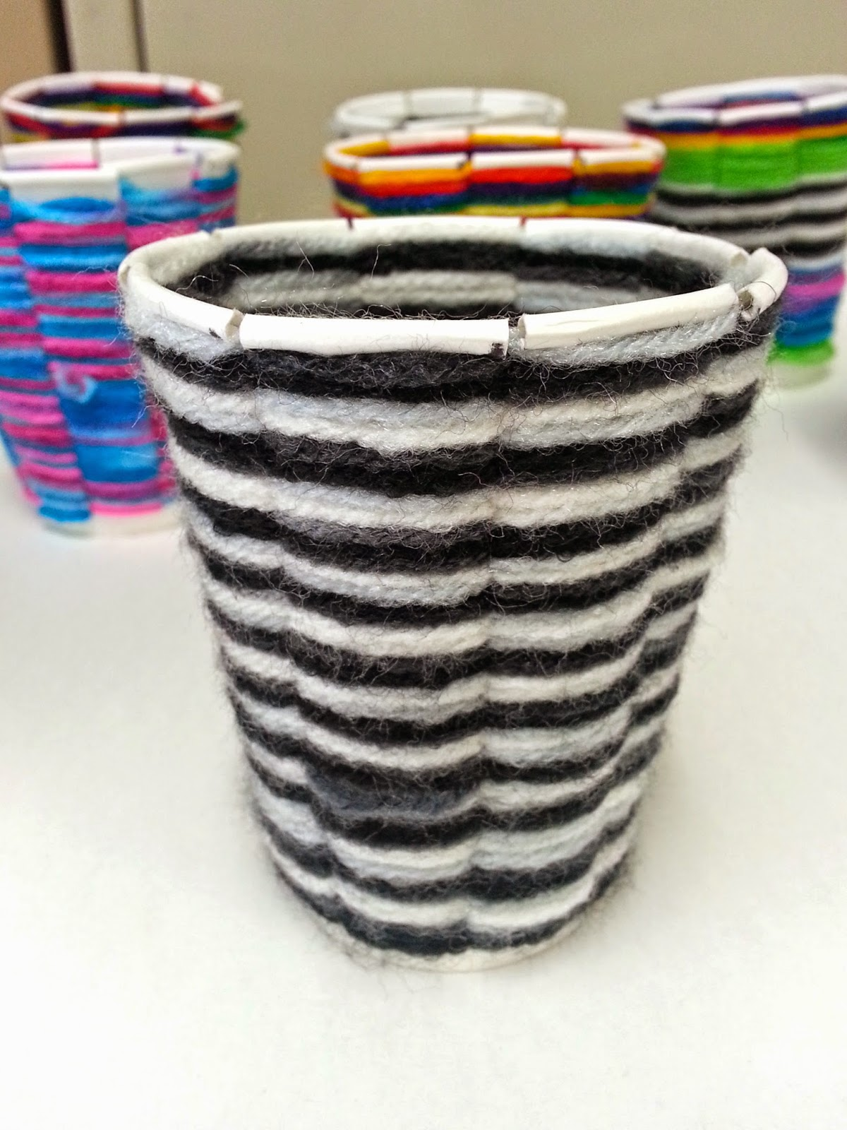 Basket Weaving Using A Paper Cup : Cup weaving th art with mrs nguyen
