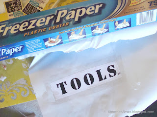 Use freezer paper to make your own stencils