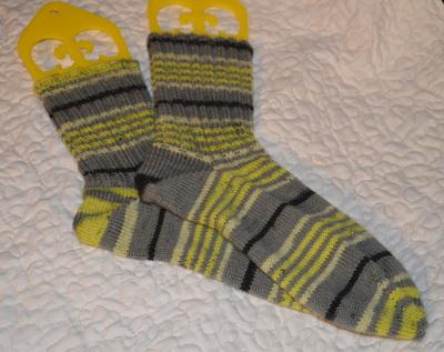 Patons Kroy Spring Leaf Stripe Socks