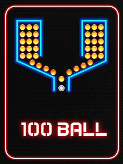 Screenshots of the 100 Balls for java mobile, phone.