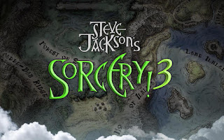 Screenshots of the Steve Jackson's Sorcery! 3 for Android tablet, phone.