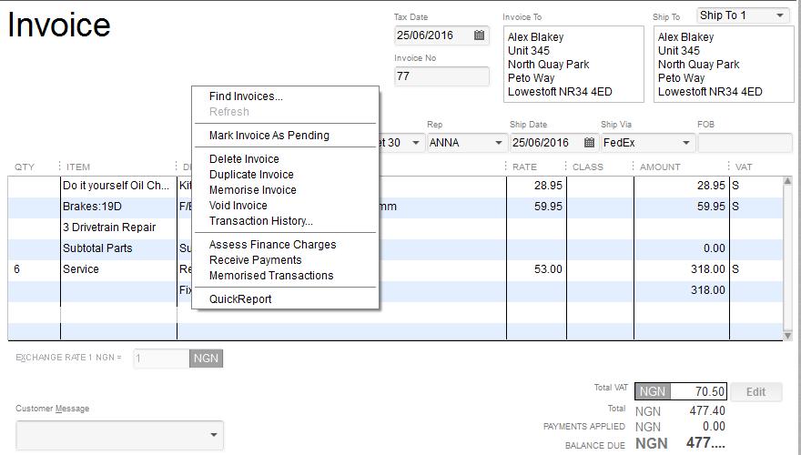 quickbooks invoice: how to delete an invoice in quickbooks, Invoice examples