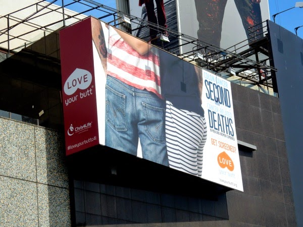 Colon Cancer Love your butt billboard 2015