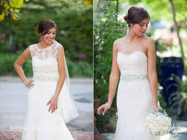 lace overlay dress top separate ceremony and reception look bridal wedding photographer