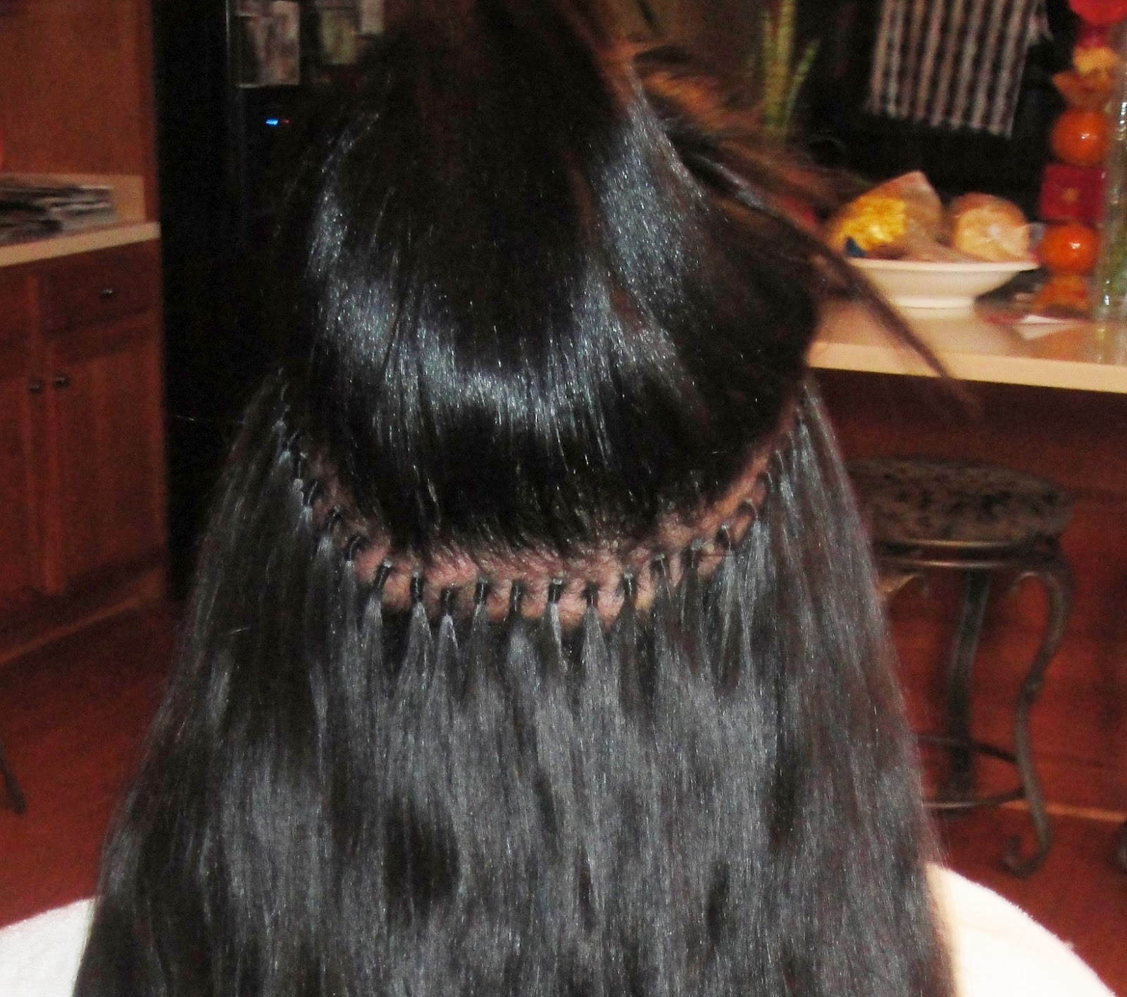 Brazilian Knots Hair Extensions Thread Remy Indian Hair