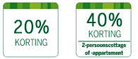 www.centerparcs.nl/OM8638 20% korting of 40% korting voor 2 personen