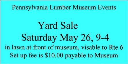 5-26 PA Lumber Museum Yard Sale