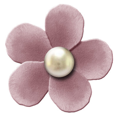 Free Blush Pearl Digital Scrapbook Flower 44