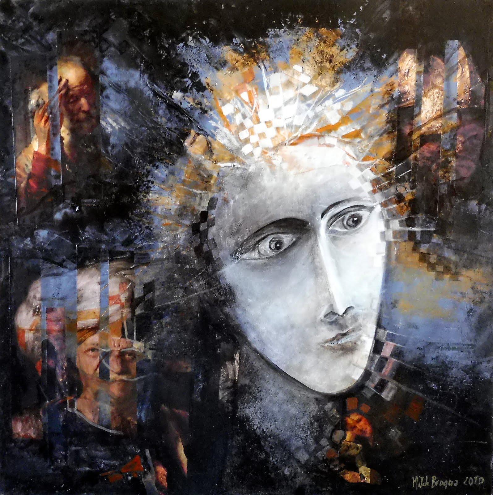Portrait de l'homme étonné - 60 x 60 cm - 2020