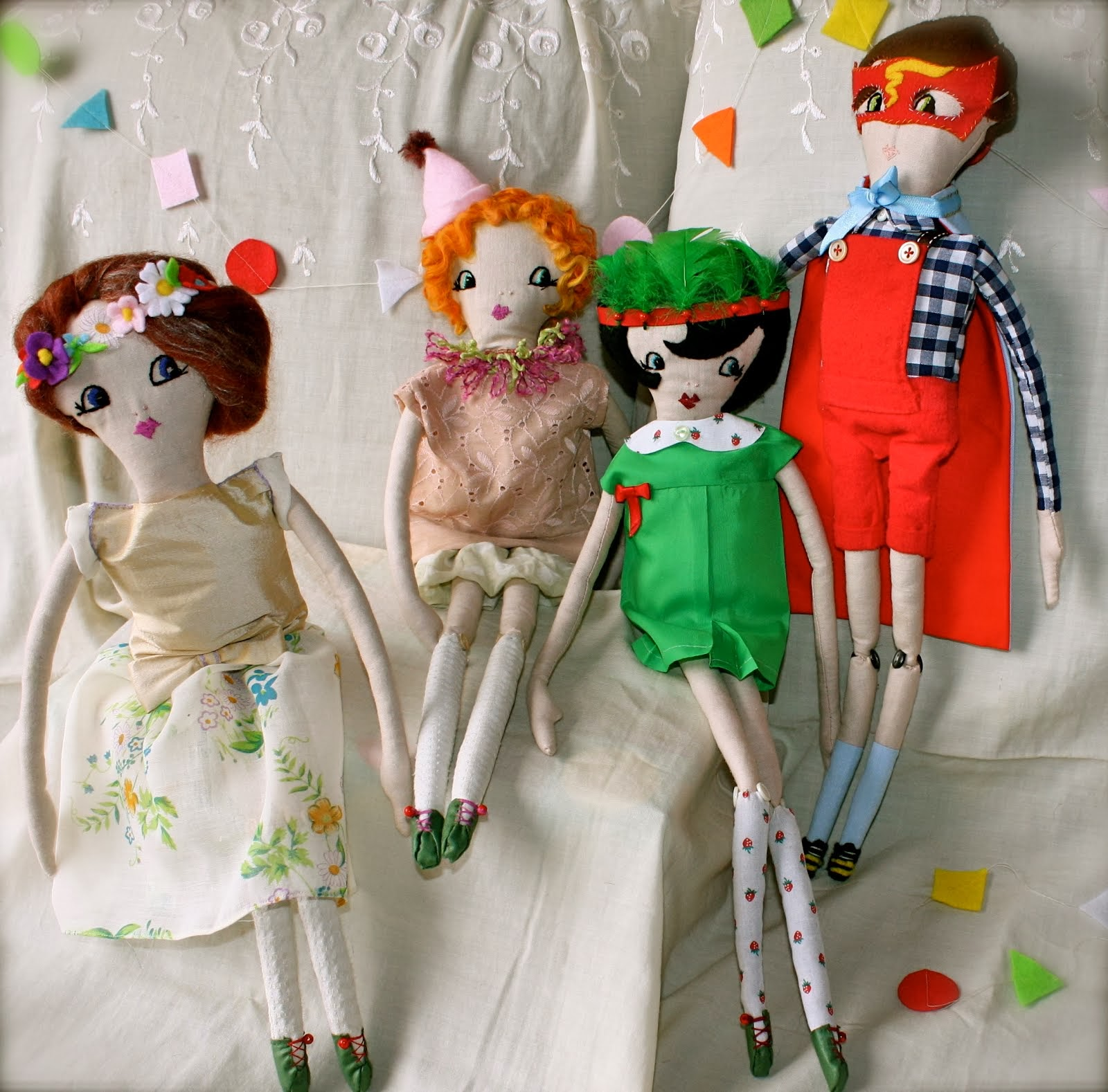 The Party Gang - Handmade Dolls