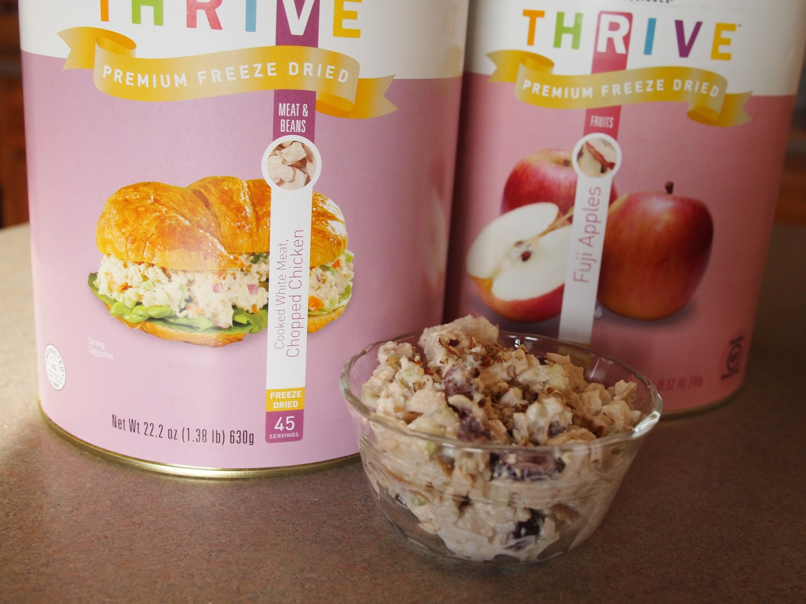 Freeze dried food is good my favorite recipes pats thrive apple cranberry chicken salad with toasted pecans forumfinder Image collections