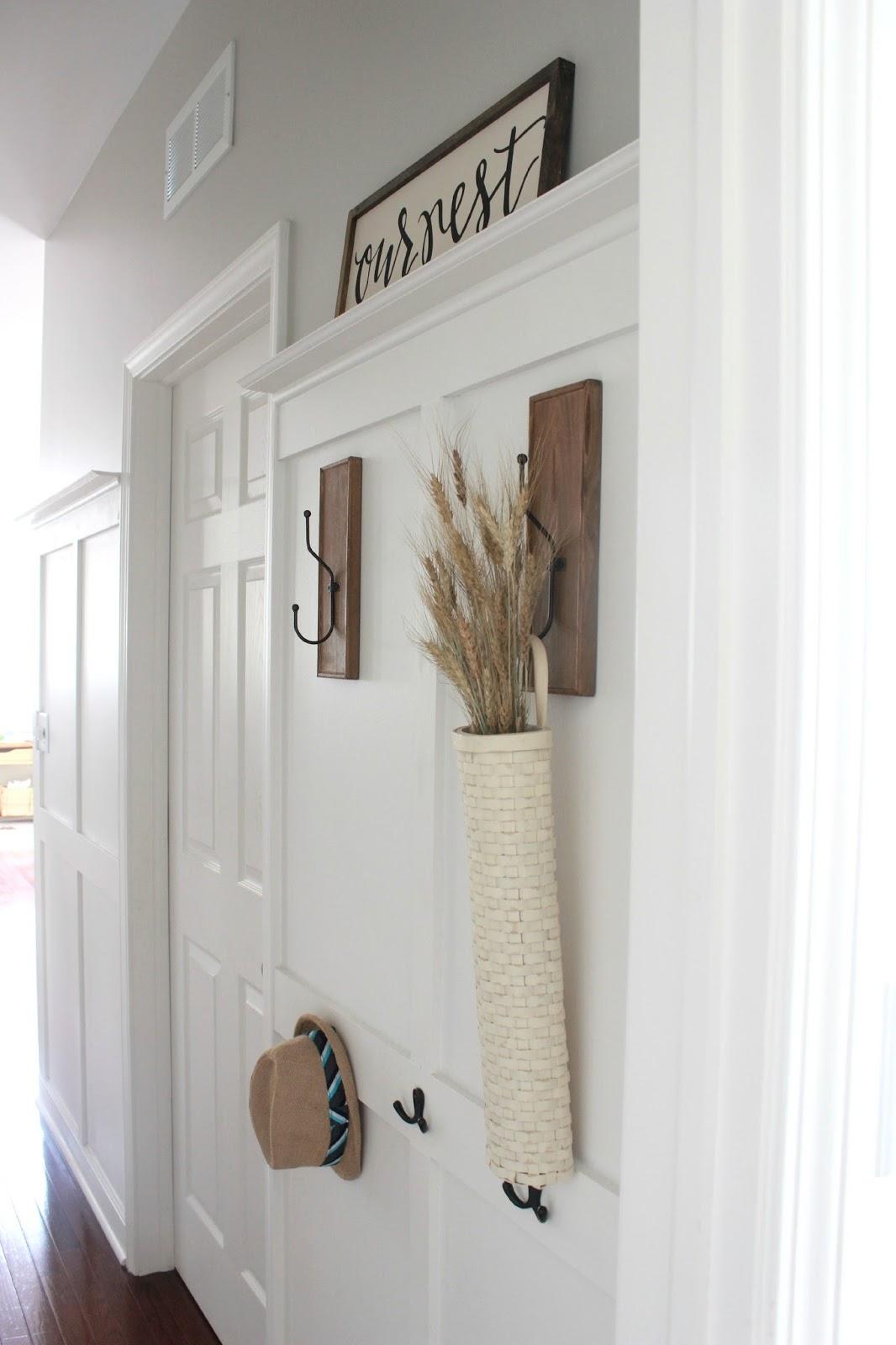 board and batten coat rack is done entryway drop zone